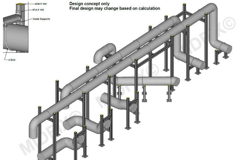 Pipework Support Solution - MIDFIX