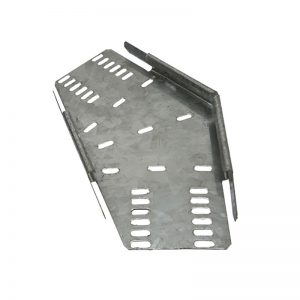 Medium cable tray with flat bends at 45 degree angle.