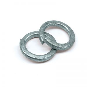 Galvanised spring washers