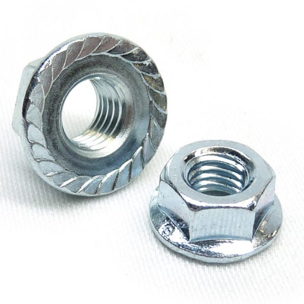 BZP serrated flange nuts