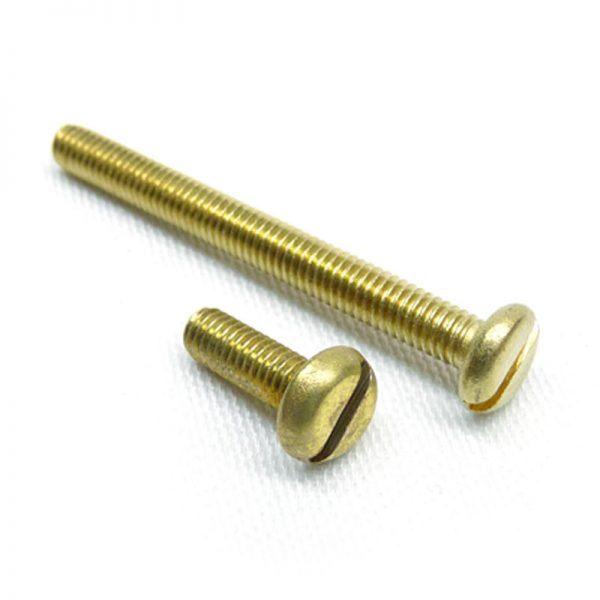 Brass pan machine screws
