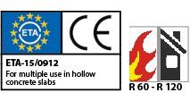 ETA HCA Hollow Concrete Anchors