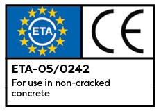 Throughbolts A4 Stainless Steel ETA