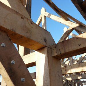 Timber coach bolt in-situ