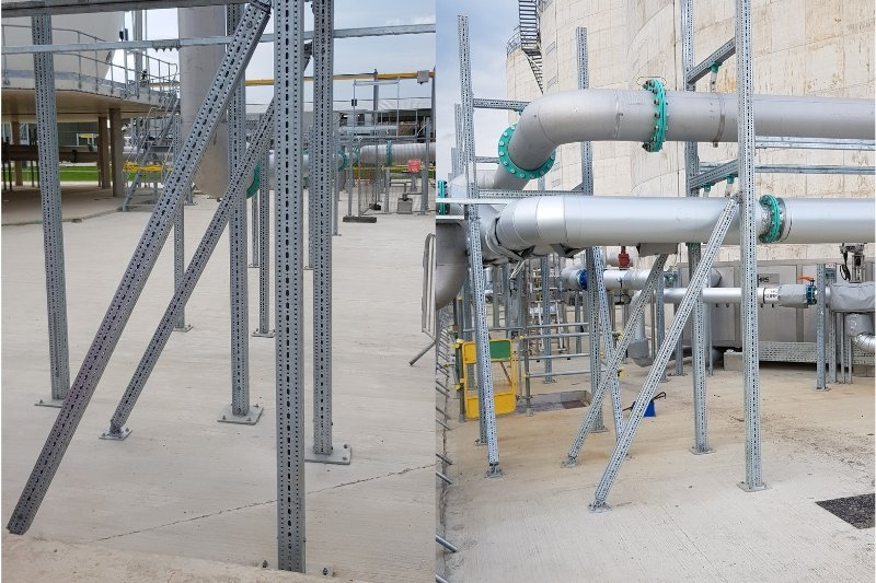Pipe Support at WTW in Yorkshire - MIDFIX
