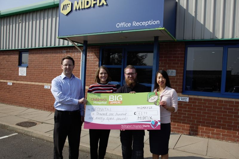 MIDFIX Donation to Nottingham neonatal appeal
