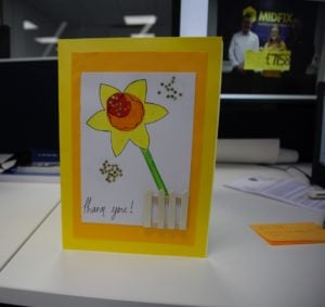 Thank you card from Marie Curie