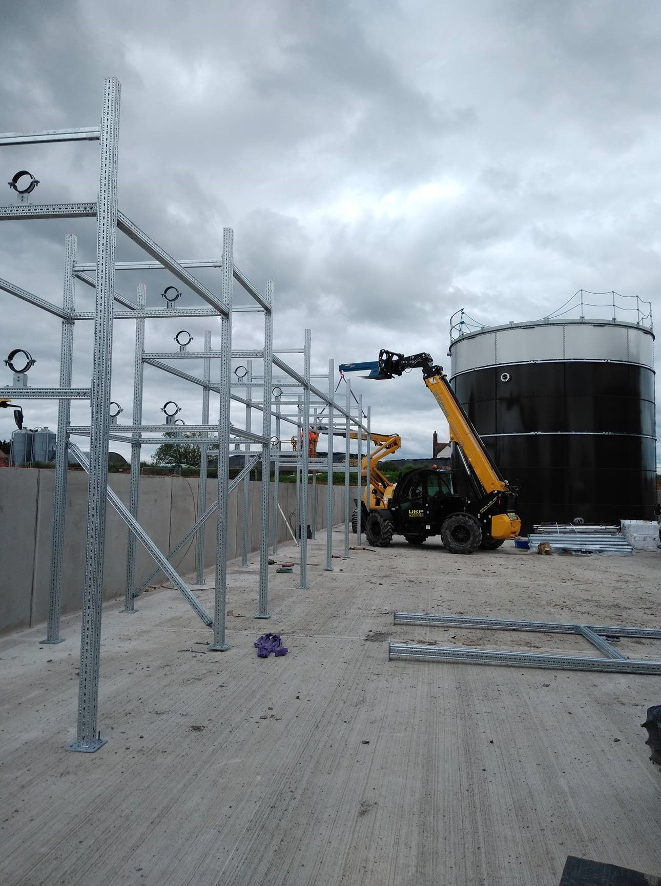 Pipe Rack on site