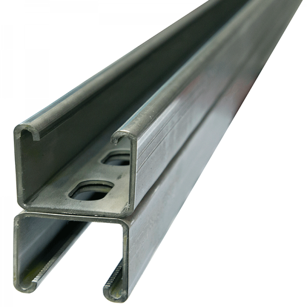 Stainless slotted back to back channel