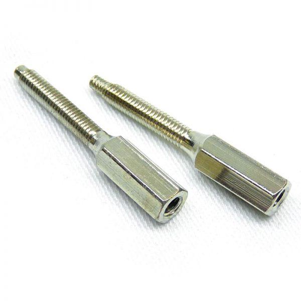Nikel plated raised countersunk screws