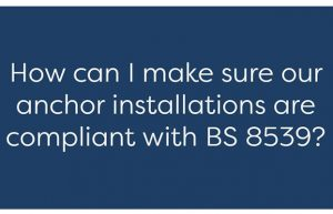 how to install an anchor in compliance with BS 8539